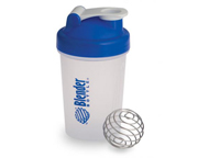BLENDER BOTTLE MINI SUPER SHAKER MEZCLADOR W/BALL 400ML BLUECAP